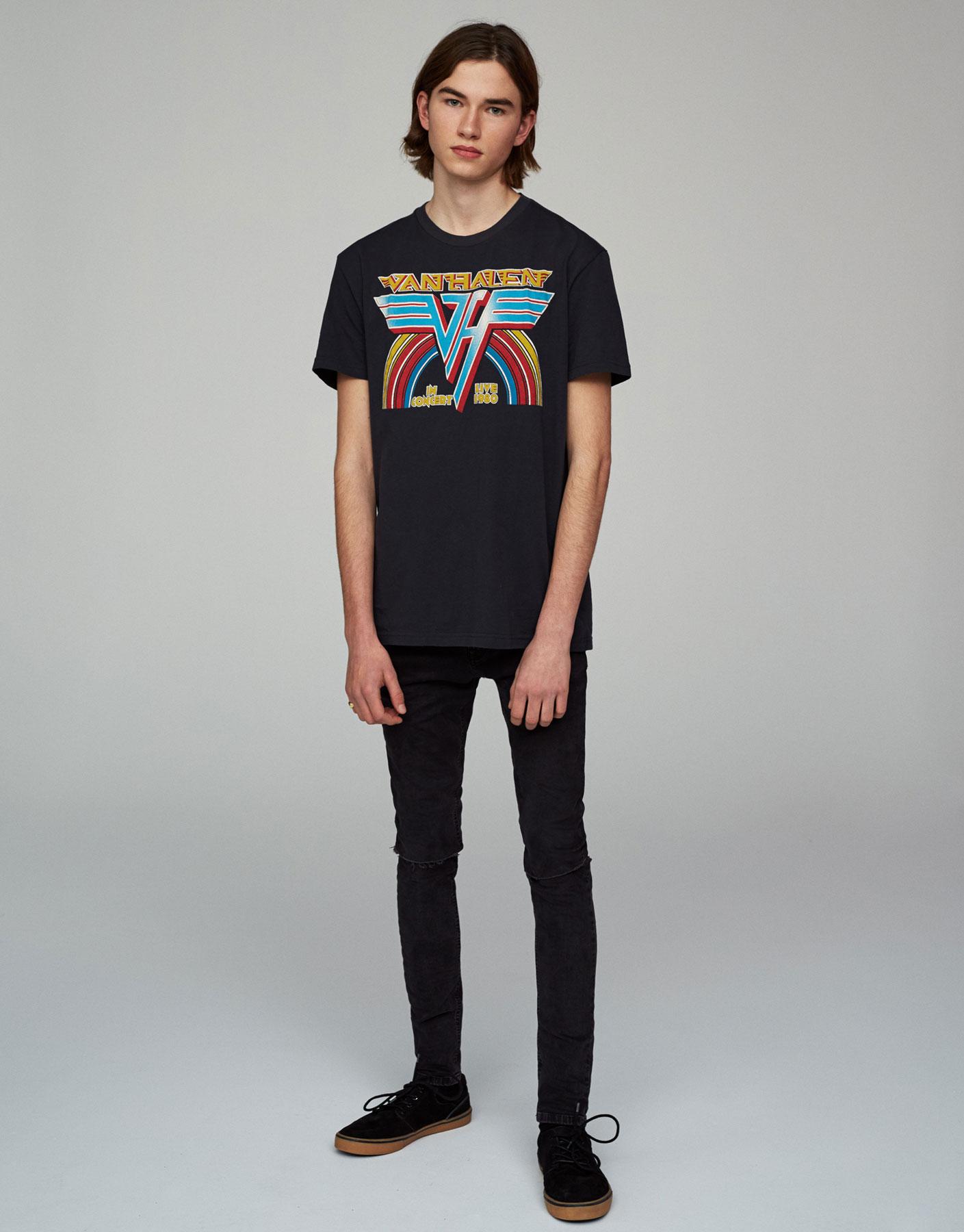 Shirt mit Van-Halen-Print