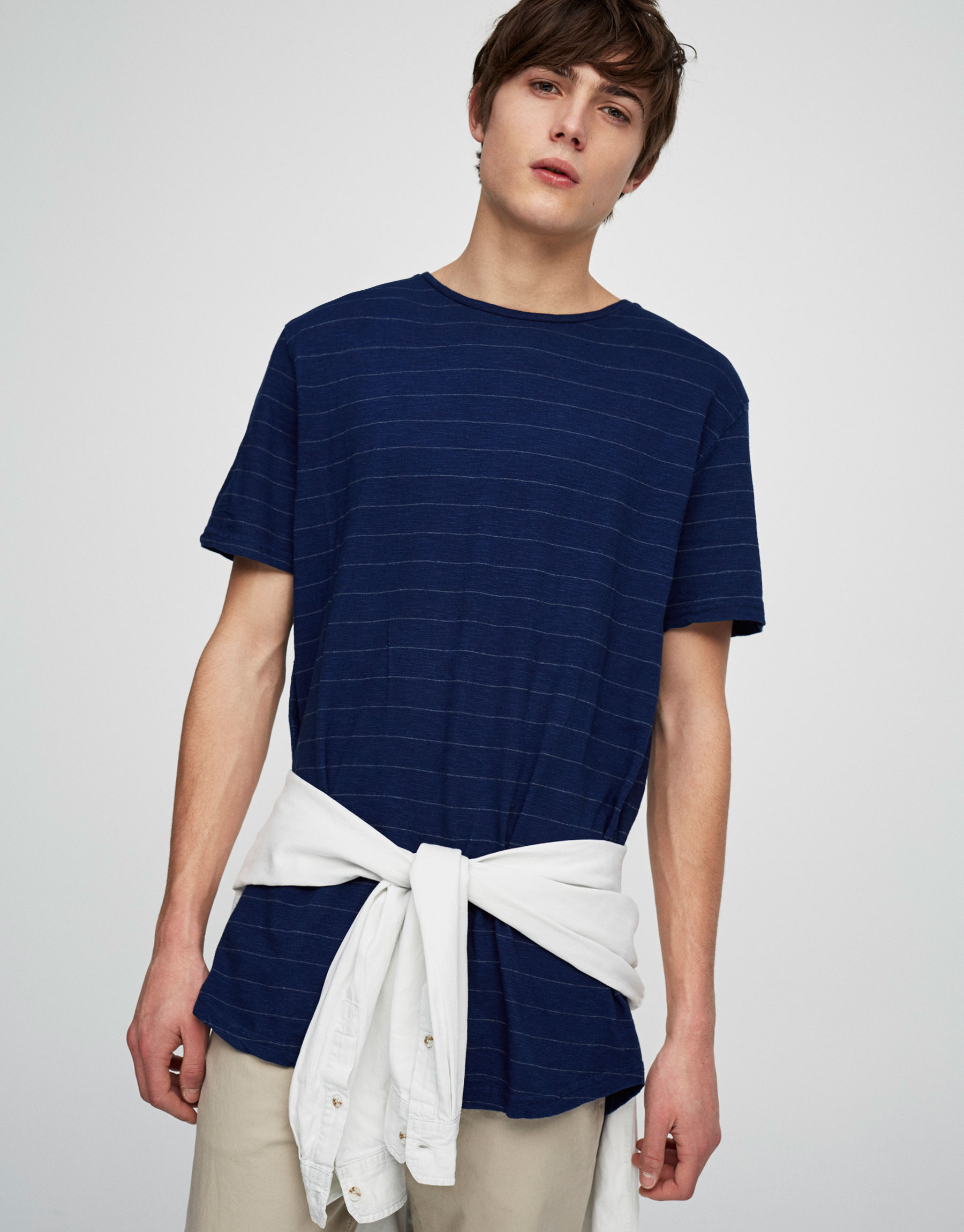 Striped indigo t-shirt