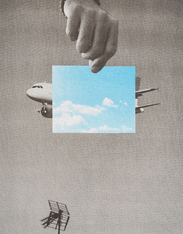 Plane print T-shirt