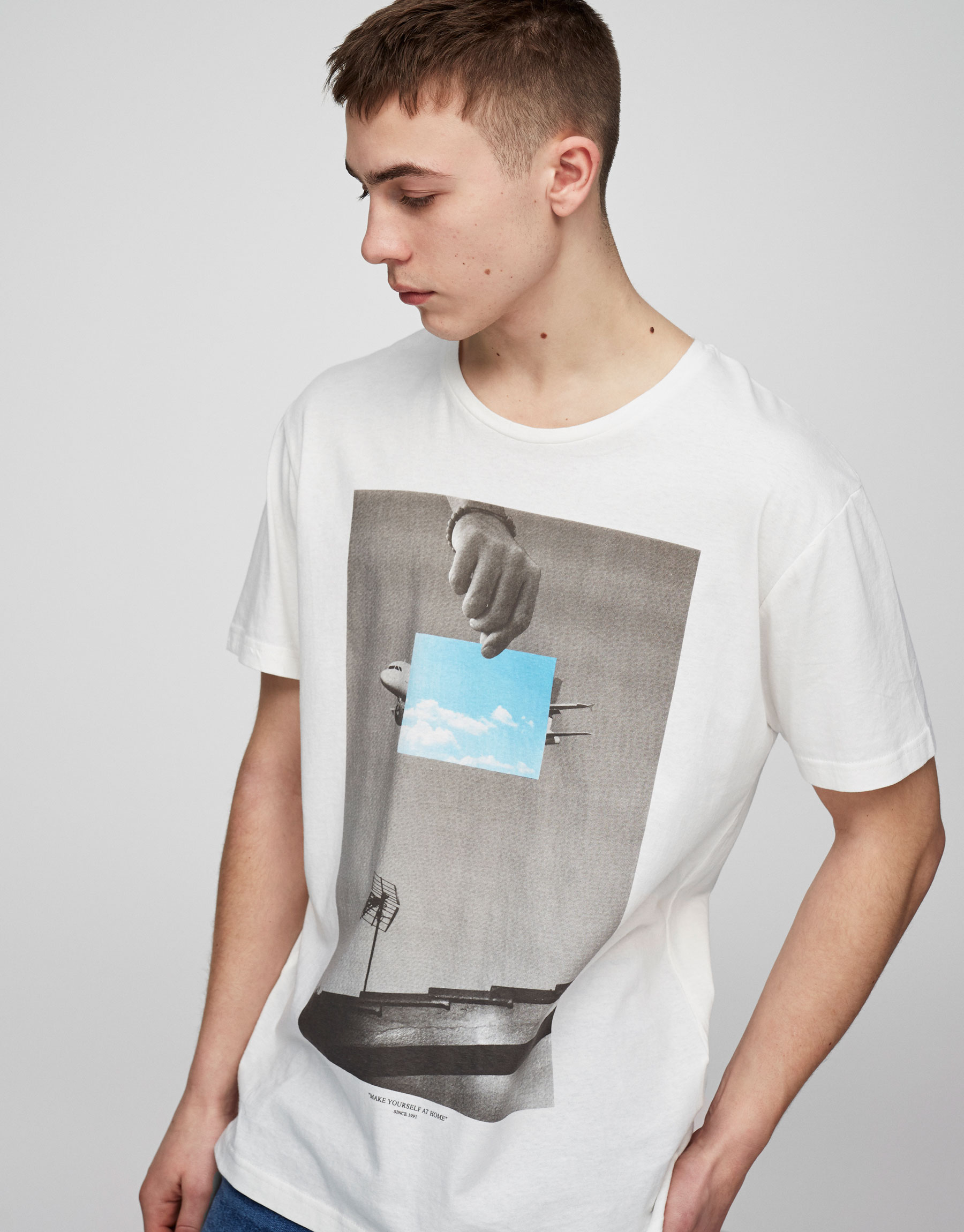 T-Shirt mit Flugzeugprint