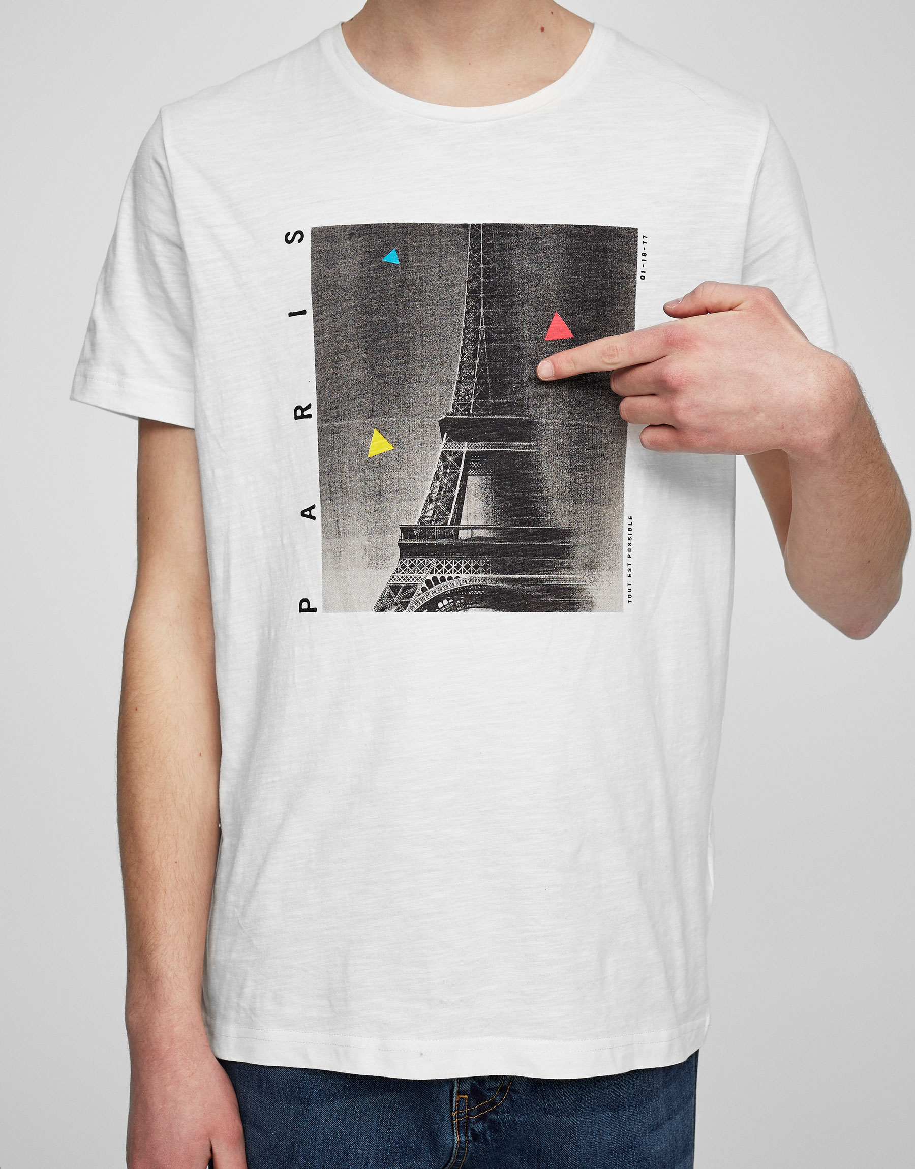 Paris photo print T-shirt