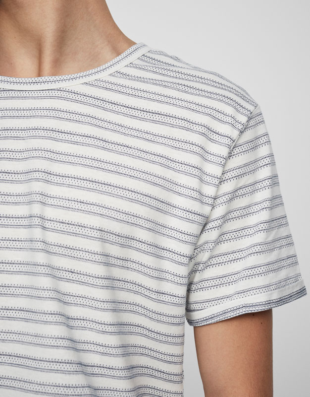 Jacquard nautical stripe t-shirt