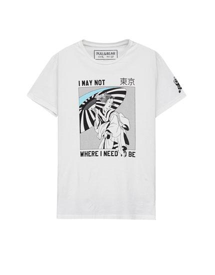 Shirt mit Print vorne