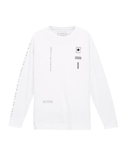Long sleeved graphic T-shirt