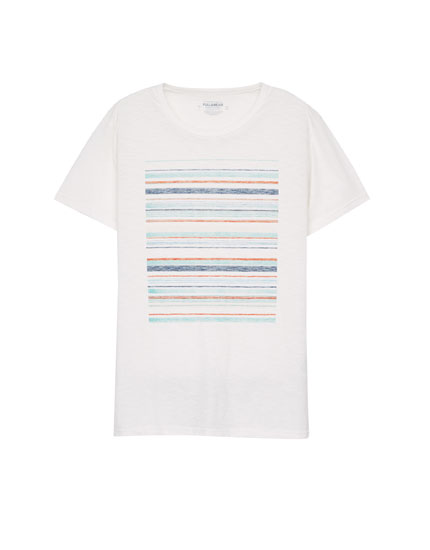 Striped rectangle T-shirt