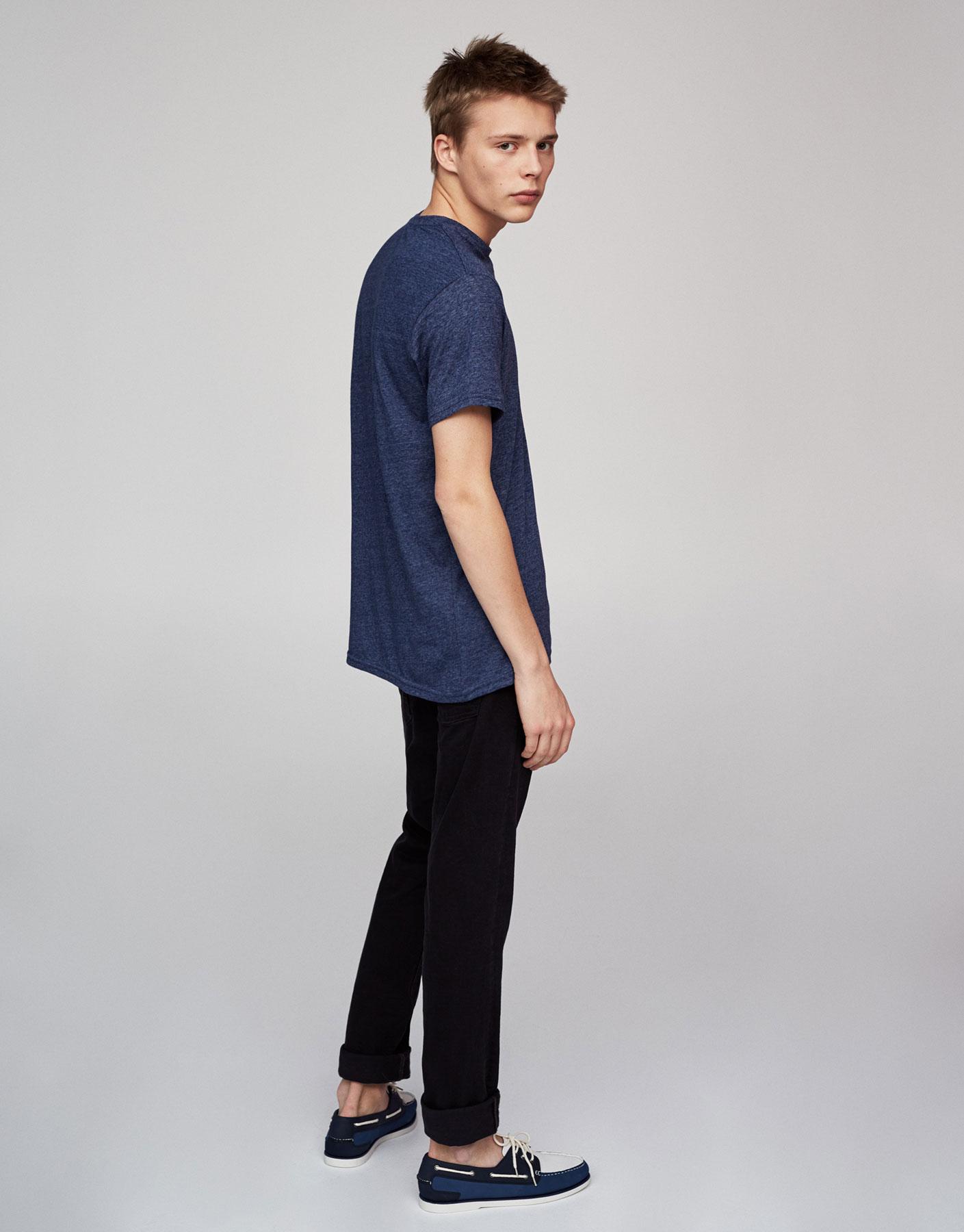 Camiseta tipo lino black