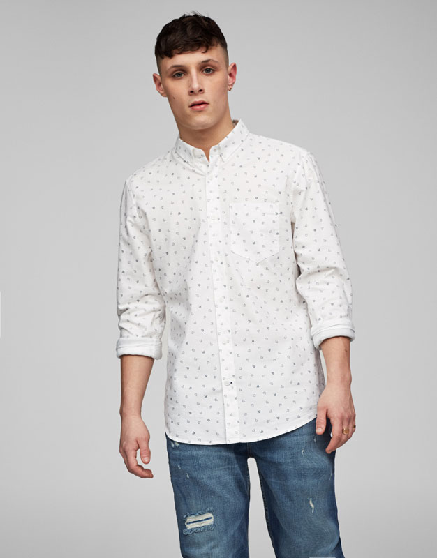 Chemise Oxford all-over étincelles