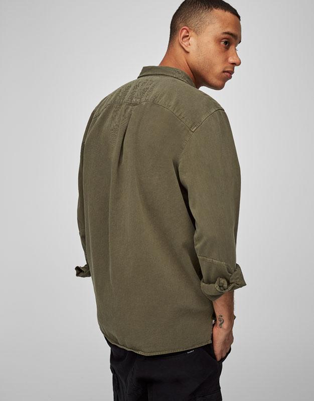 Twill utility overshirt