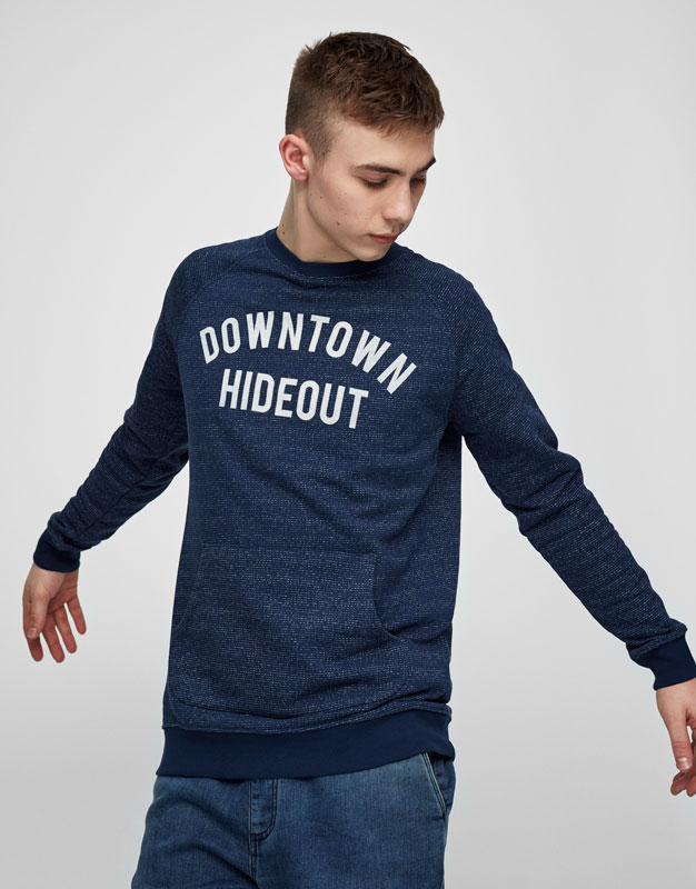 Front text sweatshirt