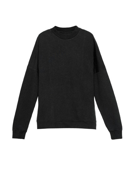 Stitched shoulder sweatshirt