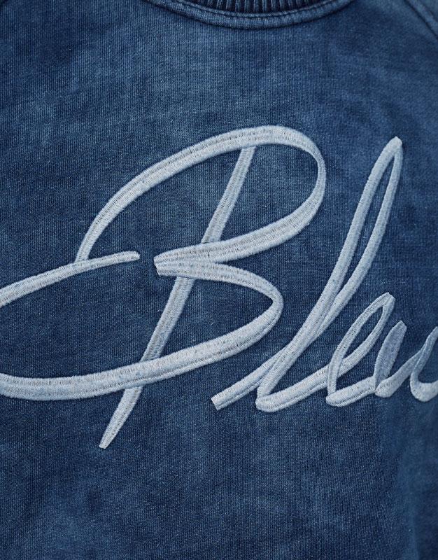 'Bleu' indigo blue sweatshirt
