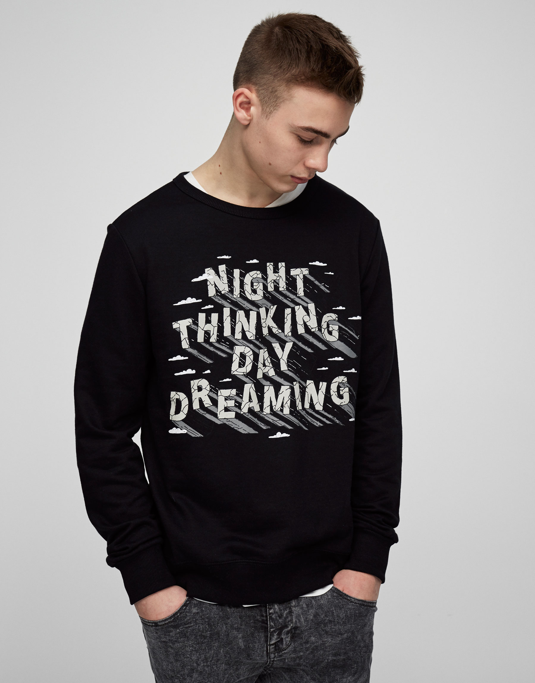 Sweatshirt with front print