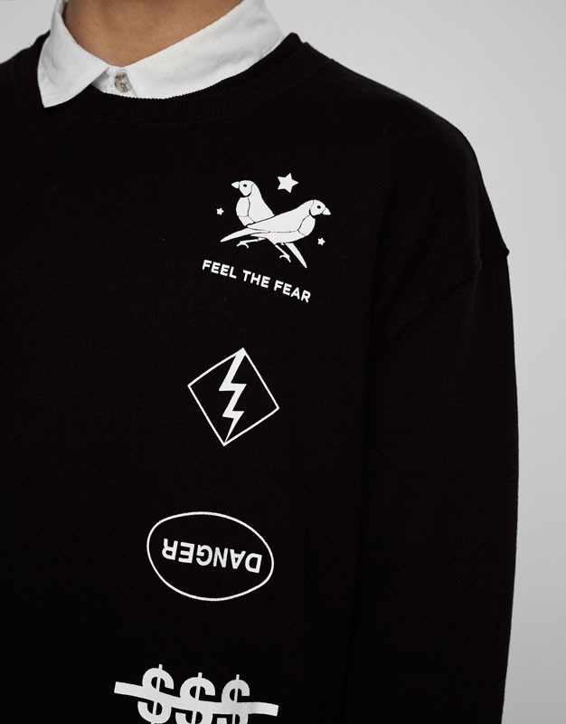 Black graphics sweatshirt