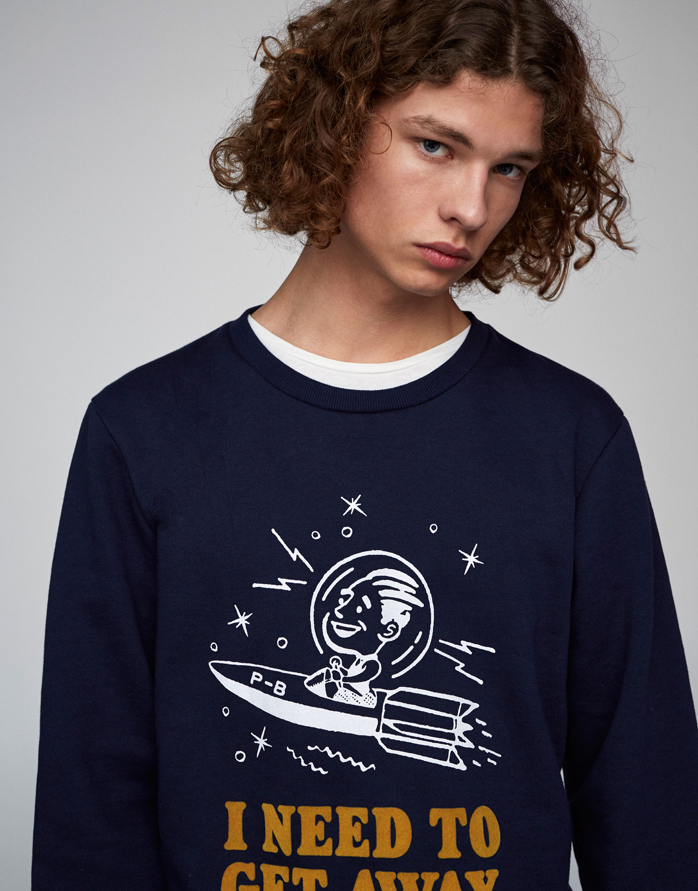 Teen sweatshirt with illustration and text