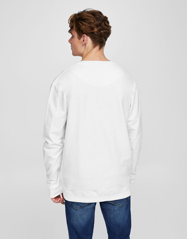 Colourful sweatshirt with slogan print
