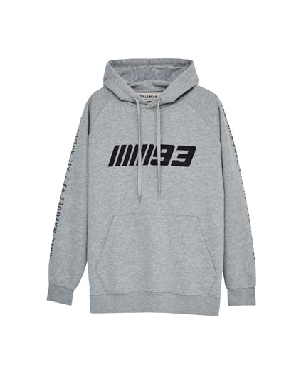 Grey hooded sweatshirt with 93 print (Marc Márquez Collection)