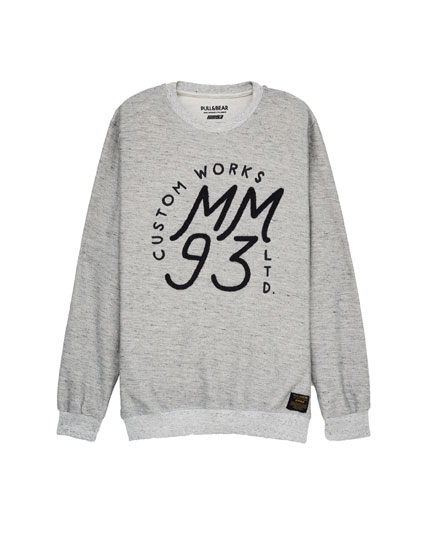 Sweat gris imprimé initiales MM93 (collection Marc Márquez)