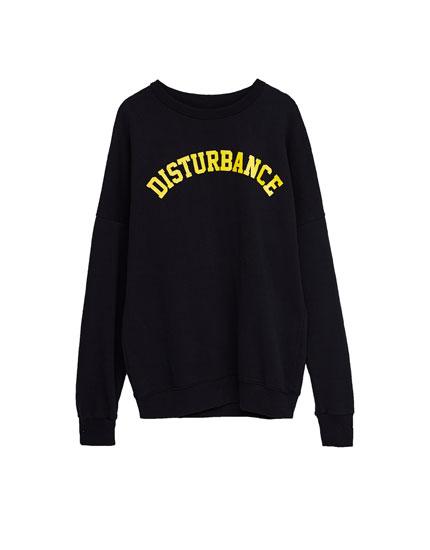 Yellow text sweatshirt