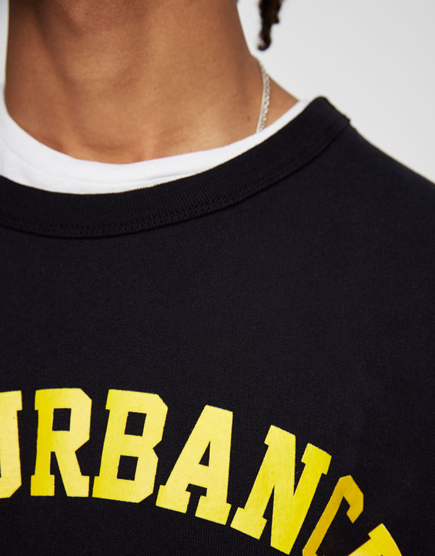 Yellow text sweatshirt