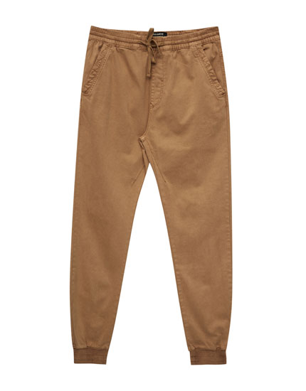 Faded colours beach-style trousers