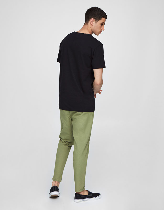 Loose fit chino trousers