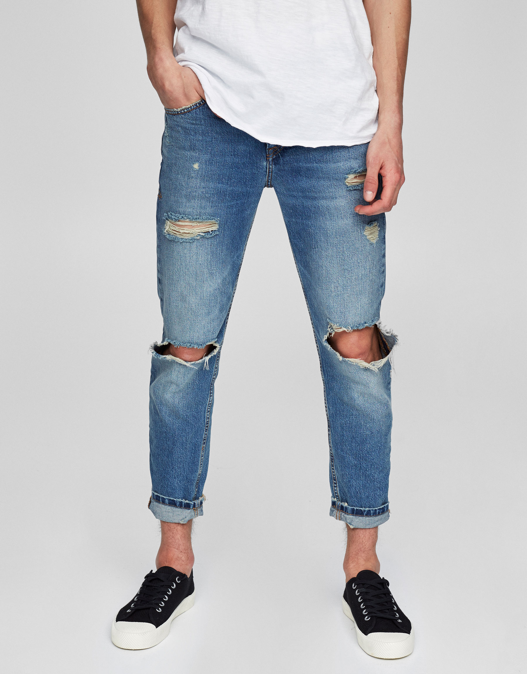 Jeans slim fit cropped tapered