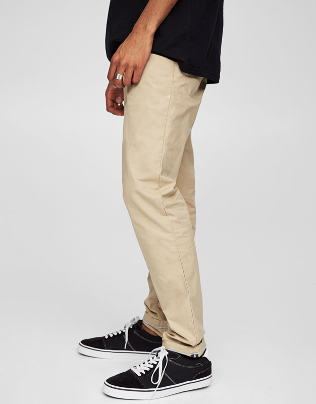 Pantalon type chino couleurs
