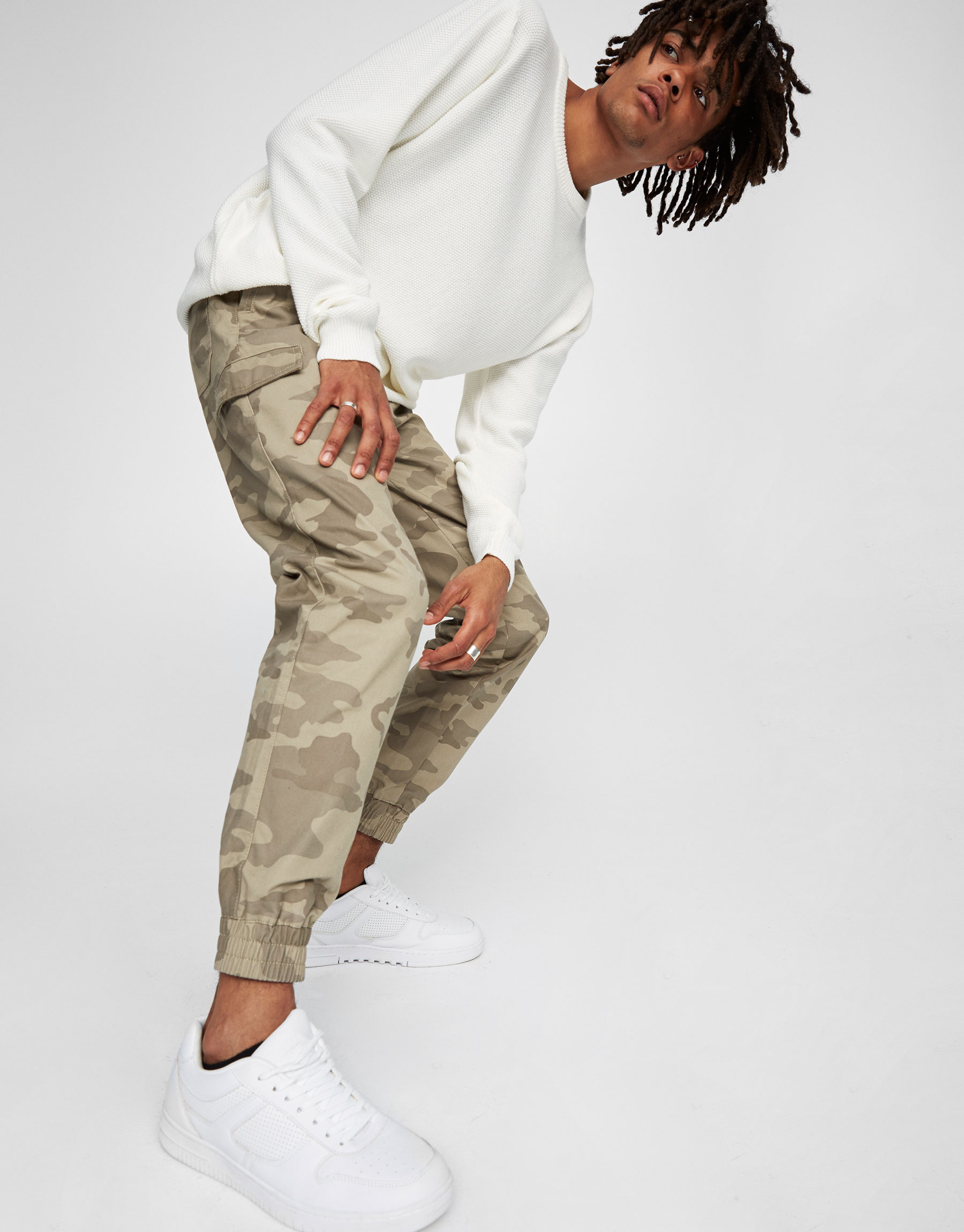Camouflage cargo beach trousers