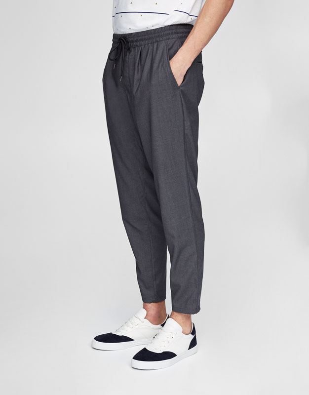 Beach trousers with waist cord