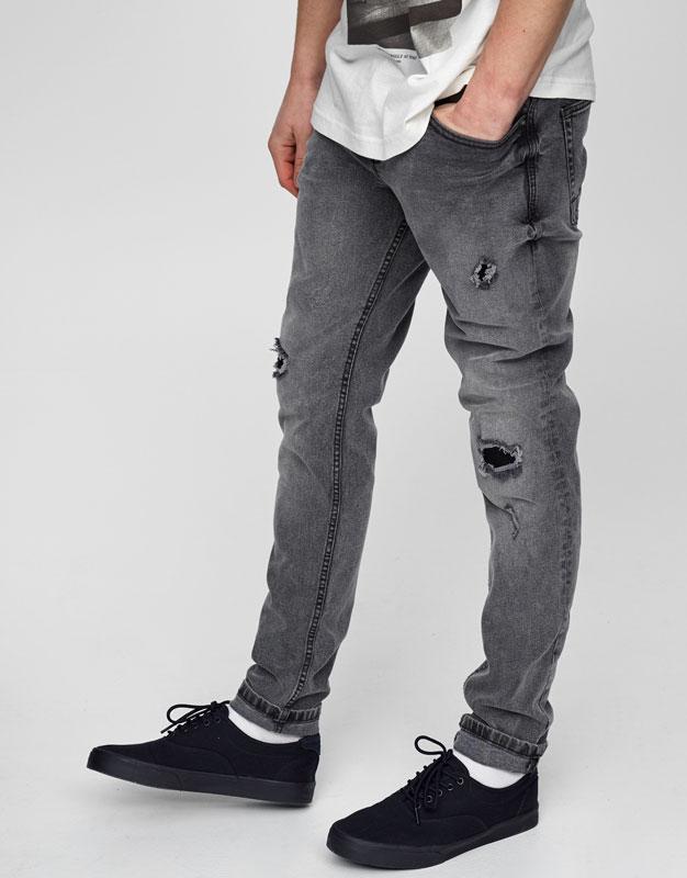 Dark wash slim fit jeans