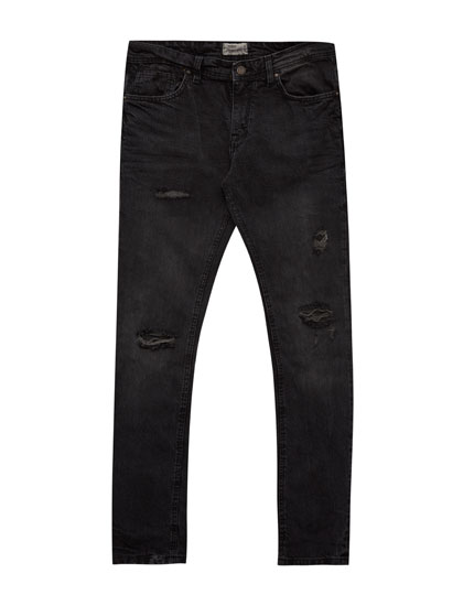 Jeans slim fit rotos