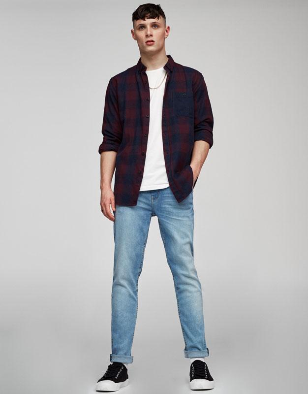 Jean bleu clair skinny big fit