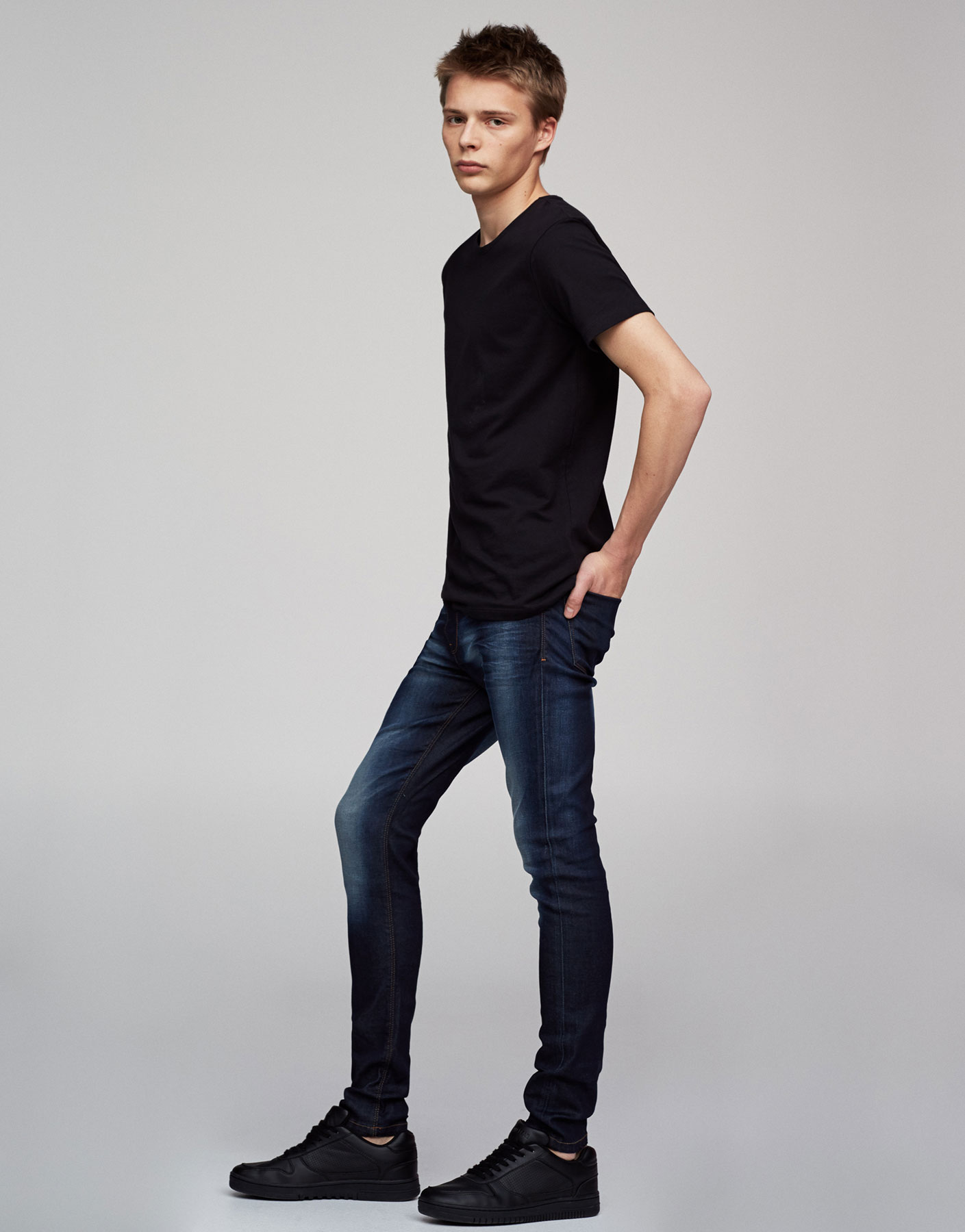 Donkerblauwe jeans superskinny fit