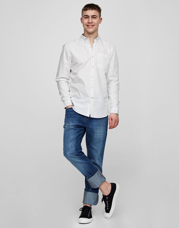 Jean bleu regular fit