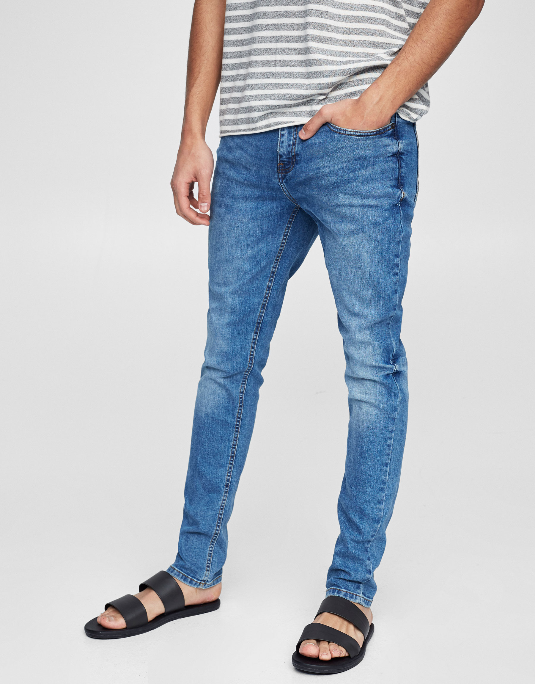 Classic blue skinny fit jeans