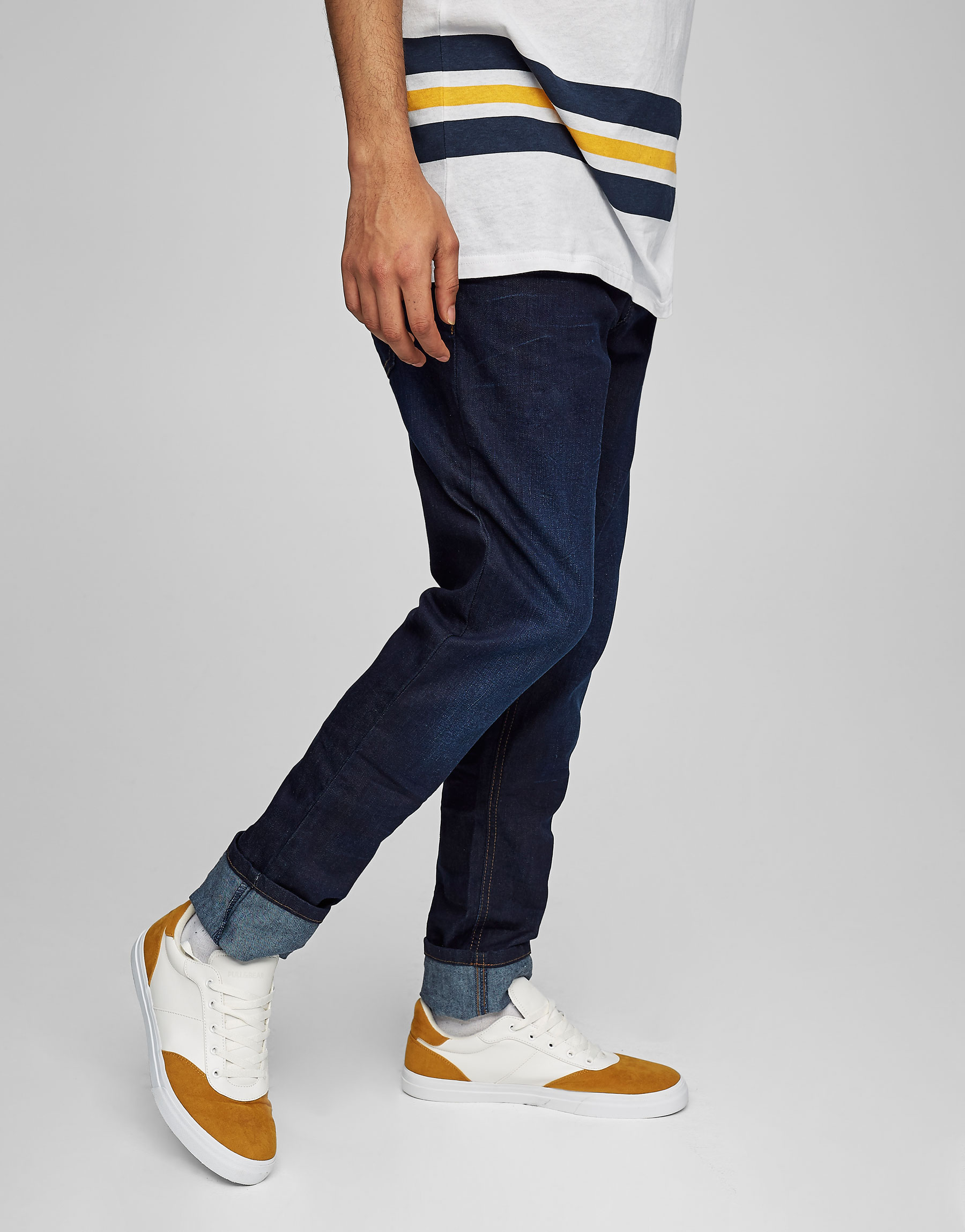 Donkerblauwe jeans skinny fit