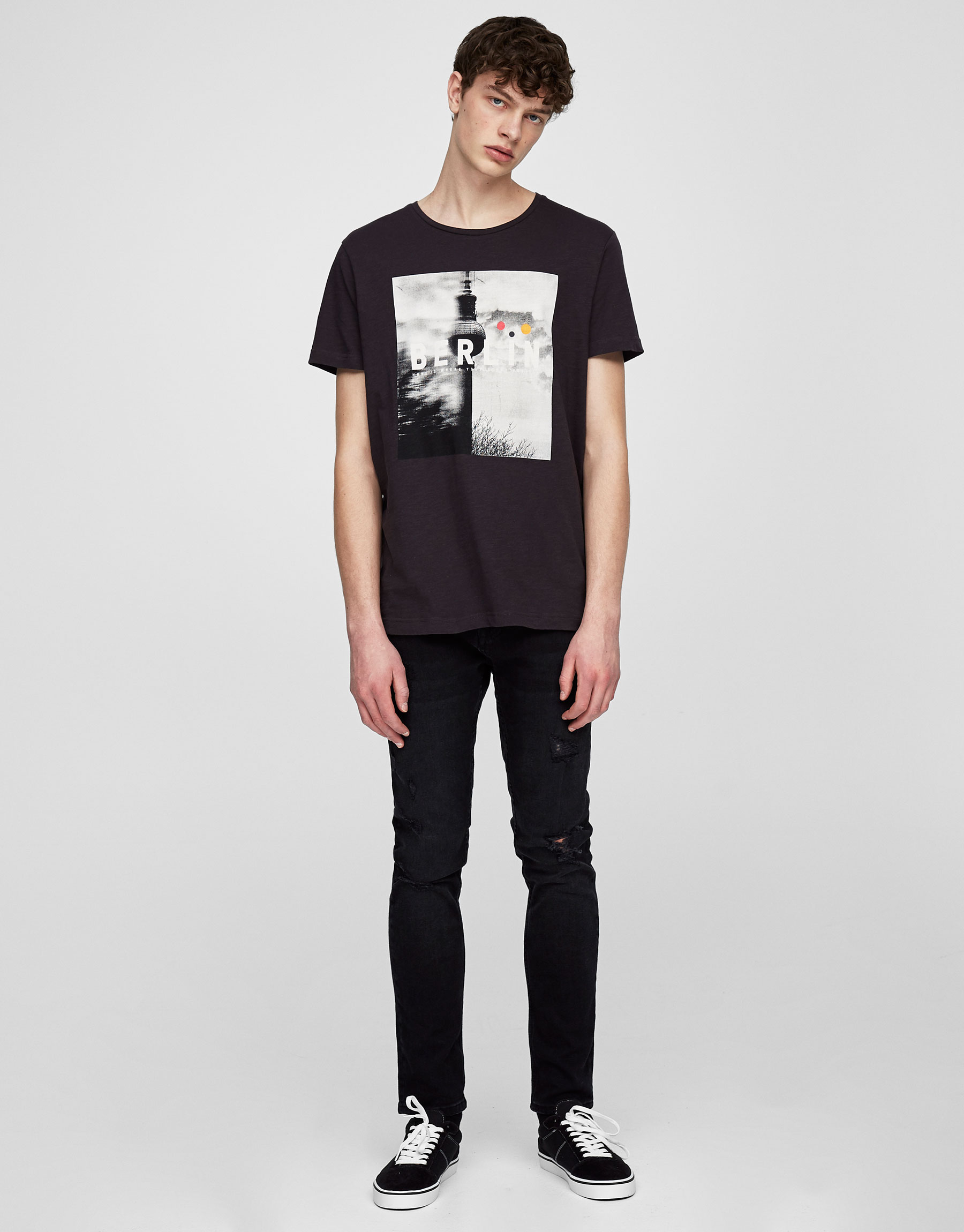 Jeans skinny fit negro