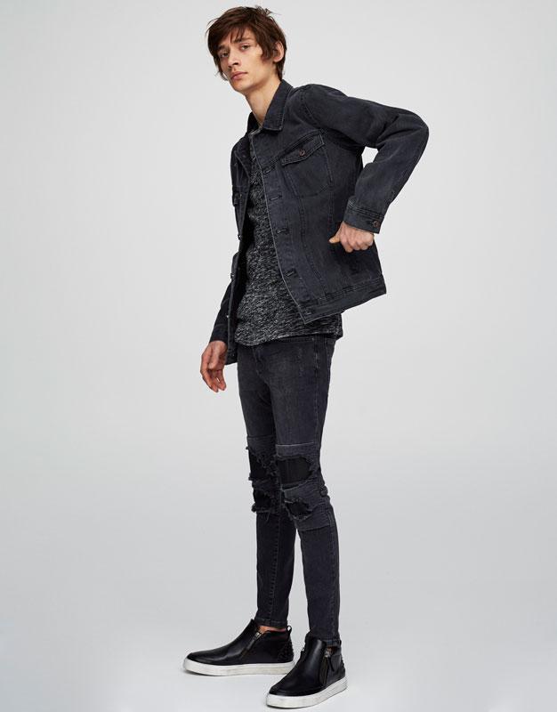 Super skinny fit biker jeans