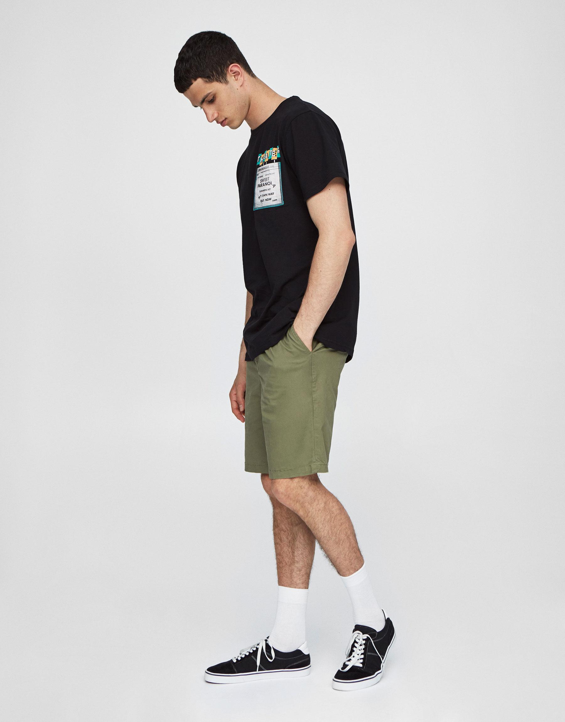 Chino-style Cropped Bermuda Shorts