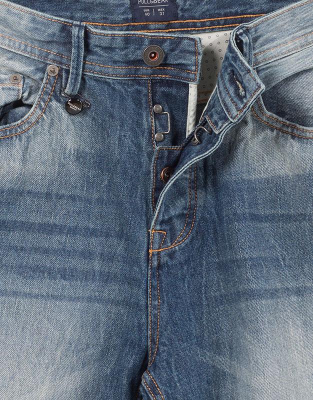 Medium fade denim bermuda shorts