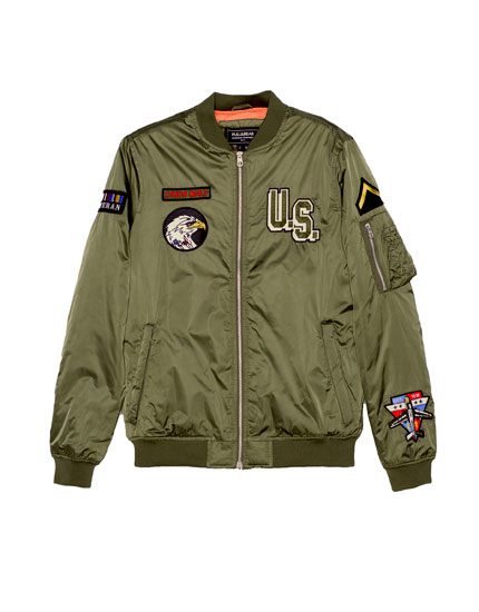 Patches bomber jacket