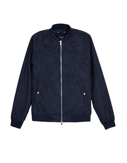 Suede bomber jacket