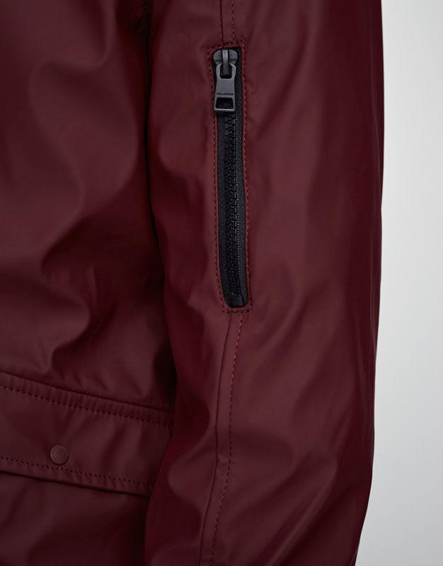 Rubberised bomber jacket