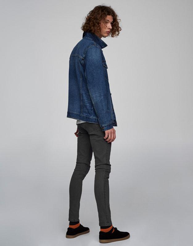 Basic blue denim jacket