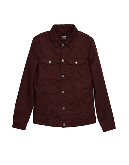 Jacke mit Taschen und Knopfverschluss