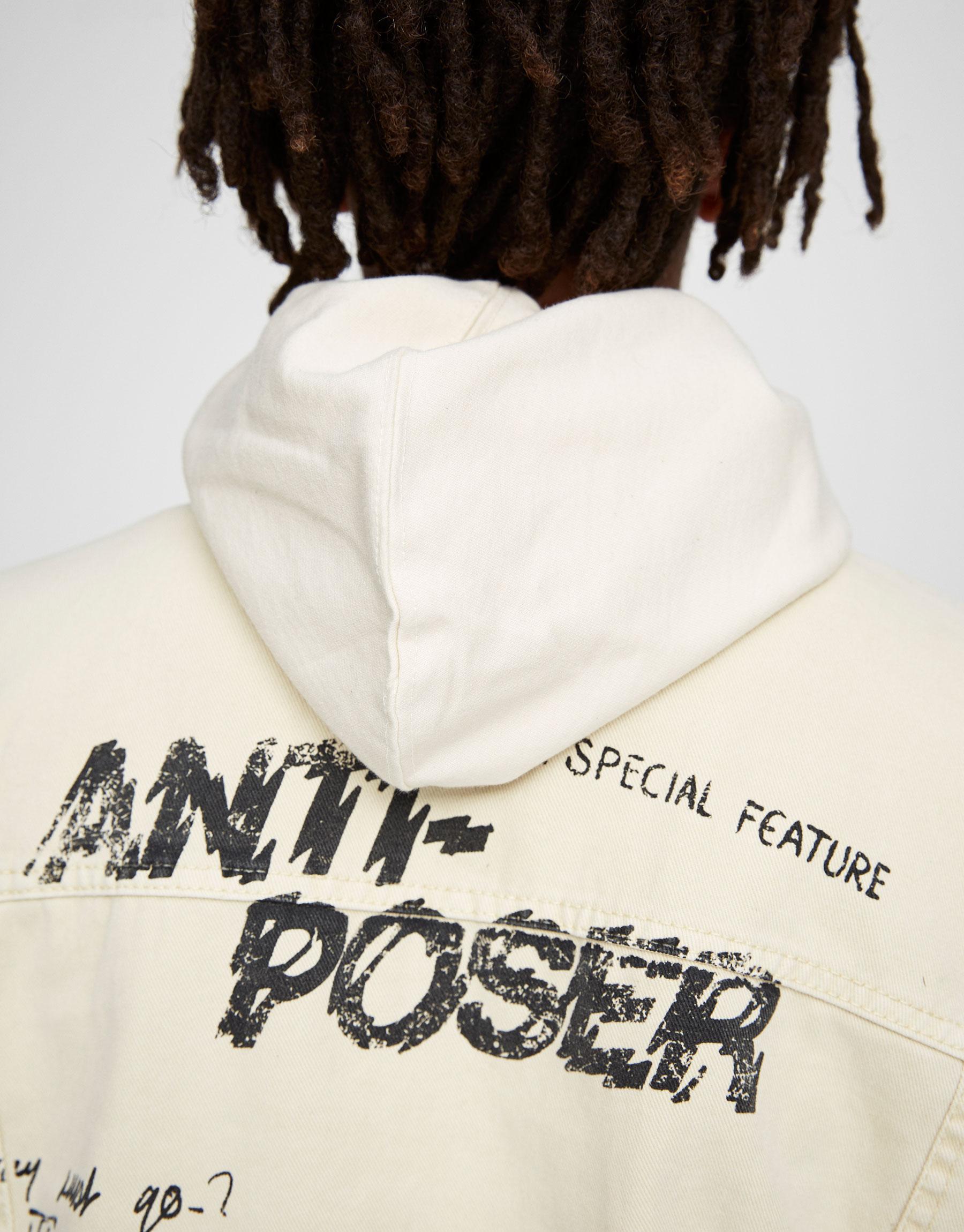 Denim jacket with print