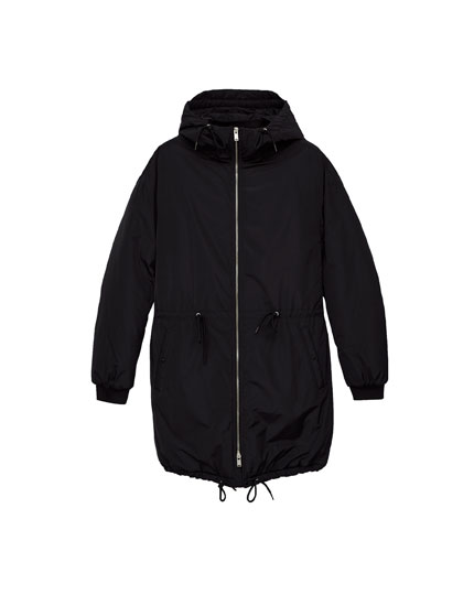 Hooded puffer parka