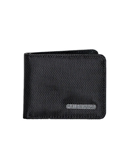 Black wallet with design