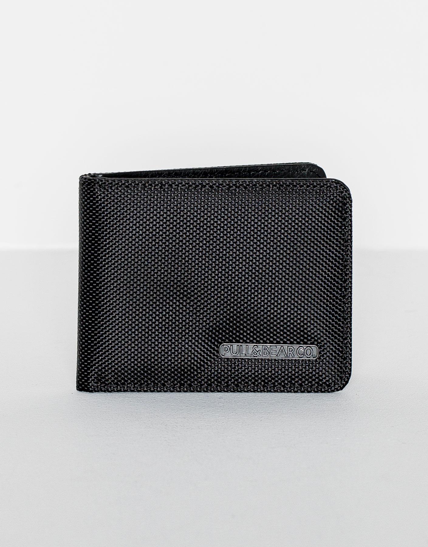 Black wallet with design
