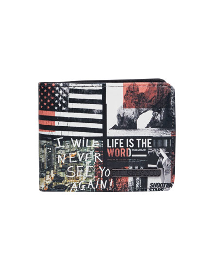Wallet with graphics print